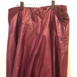 Eloquii Faux Leather Skirt